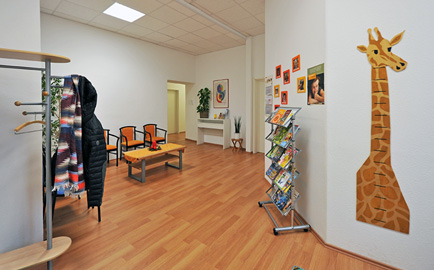 Eingangsbereich der Praxis